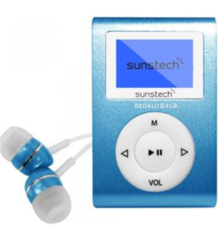 Mp3 4gb Sunstech dedaloiii azul DEDALOIII4GBBL Reproductores MP3/4/5 - DEDALOIII4GBBL