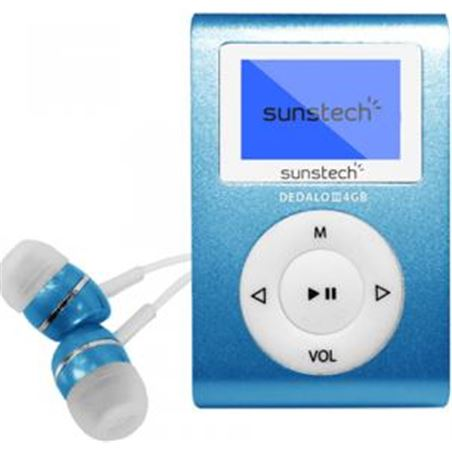 Mp3 4gb Sunstech dedaloiii azul DEDALOIII4GBBL