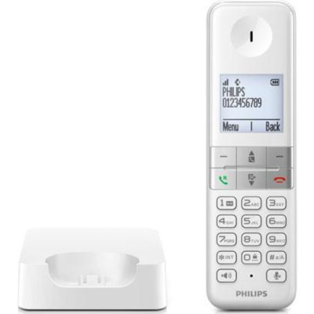 Telefono inal Philips d4501w blanco manos libres