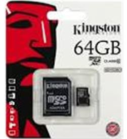 Tarjeta micro sd 64gb Kingston SDC10G264GB - SDC10G264GB