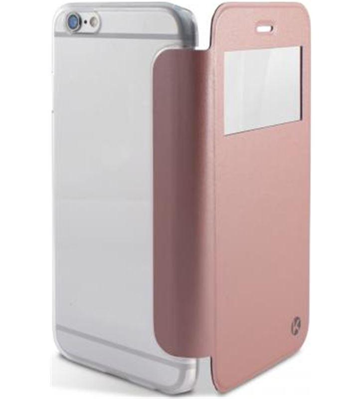 Ksix B0925FU27GR funda crystal view iphone 6/6s dorada rosa - B0925FU27GR