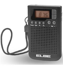 Radio bolsillo Elbe RF93 digital negra Radio y Radio/CD - RF93