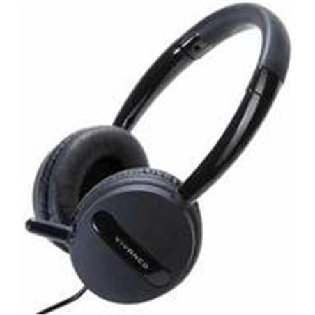 Vivanco auriculares diadema negro 36653