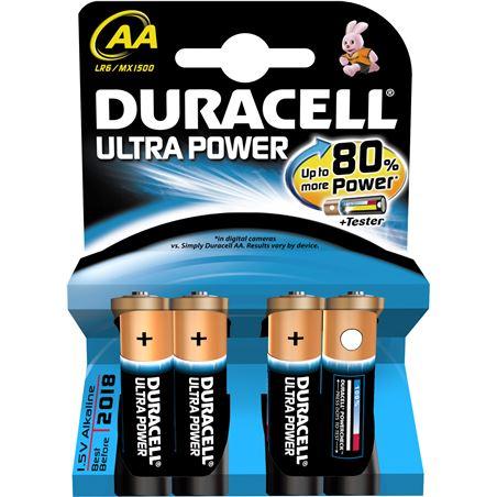 Pilas Duracell ultra power aa(lr06) 4 un alcalinas AALR06ULTRA
