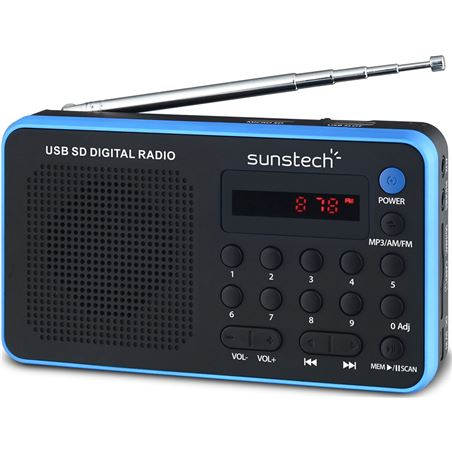 Radio portatil Sunstech RPDS32BL azul