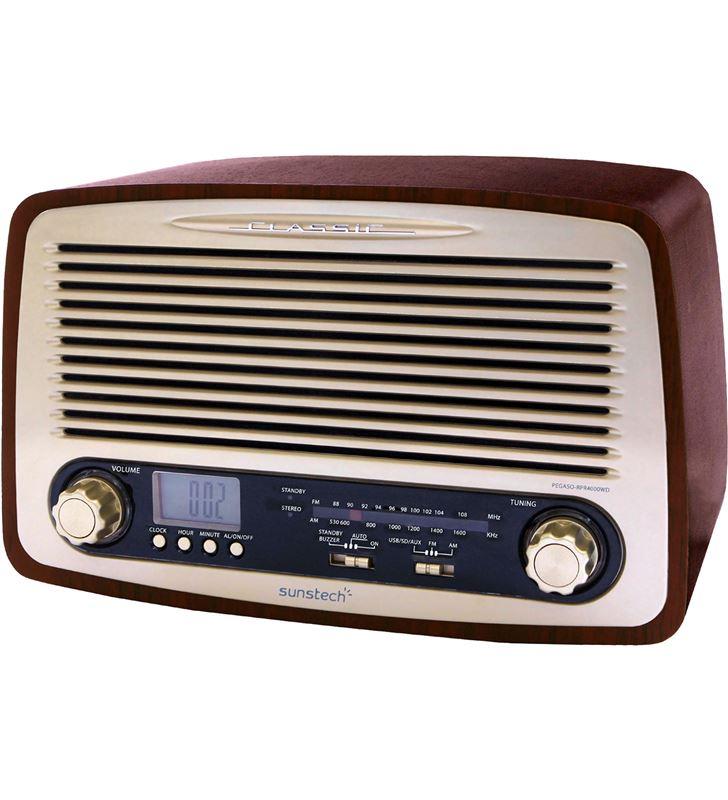 Sunstech RPR4000WD radio despertador retro Radio Radio/CD - RPR4000WD