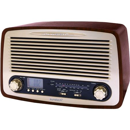 Radio despertador Sunstech RPR4000WD retro