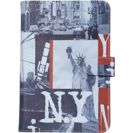 "Funda tablet 10"" folio universal Akashi new york altabuv1072867"