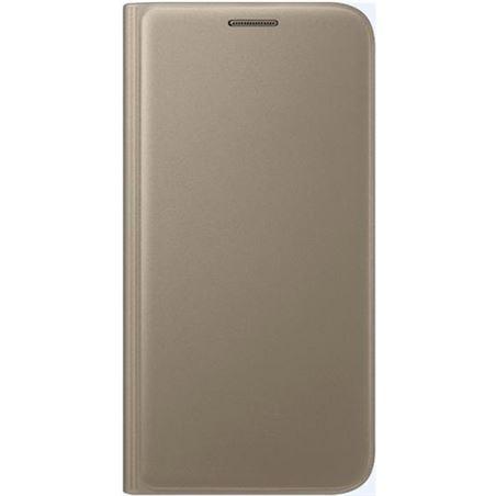 Funda Samsung flip wallet galaxy s7 oro SAEFWG930PF