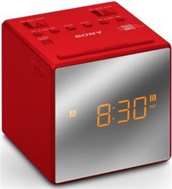 Radio reloj Sony ICFC1TR dual rojo Radio y Radio/CD - ICFC1TR
