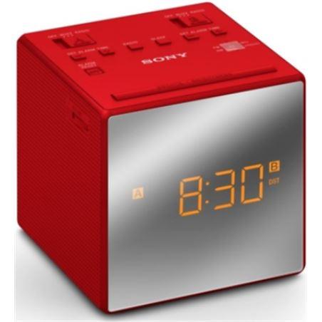 Radio reloj Sony ICFC1TR dual rojo