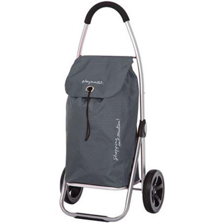 Playmarket carro compra play plegable go two gris marengo/neg 24915r223