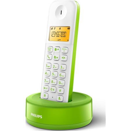 Telefono inal Philips d1301wn/23 blanco/verde 1,6