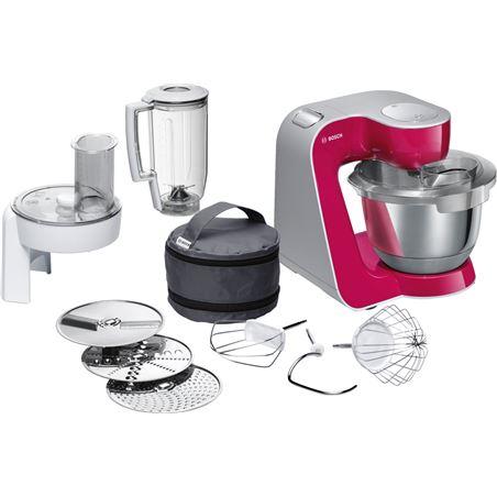 Bosch robot cocina mum58420 rojo plata BOSMUM58420