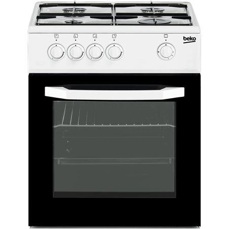 Beko cocina gas 4f blanca CSG42010DWN