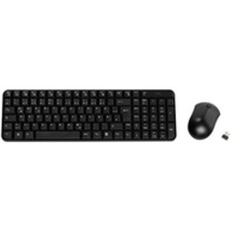 Vivanco teclado raton inalambrico negro 34683