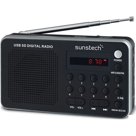Sunstech radio portatil RPDS32SL plata