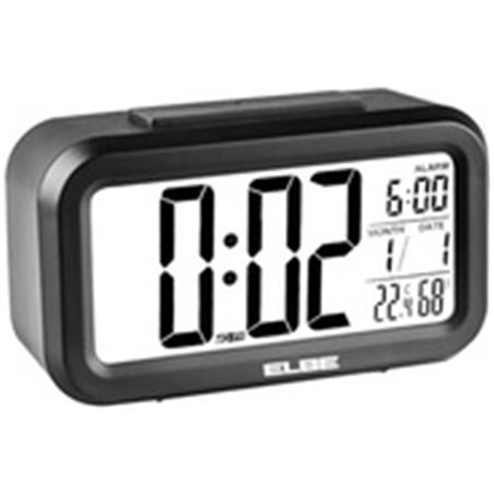 Elbe reloj despertador digital negro RD668N