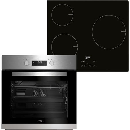 Beko horno multifuncion + placa independiente 3f BSE22341X