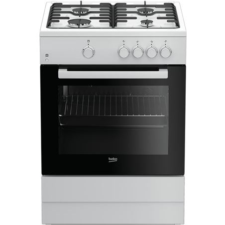 Beko cocina gas FSG62000DWL 4f blanca