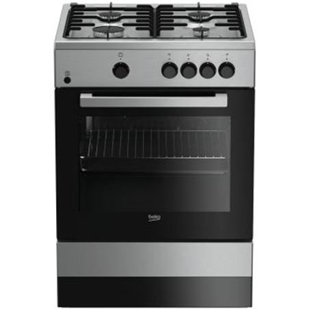 Beko cocina gas FSG62000DXL 4f inox