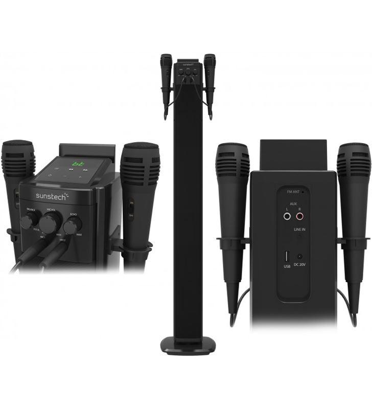 Sunstech STBTK150BK torre sonido altavoz+2 micro Altavoces - STBTK150BK