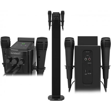 Sunstech torre sonido stbtk150bk altavoz+2 micro