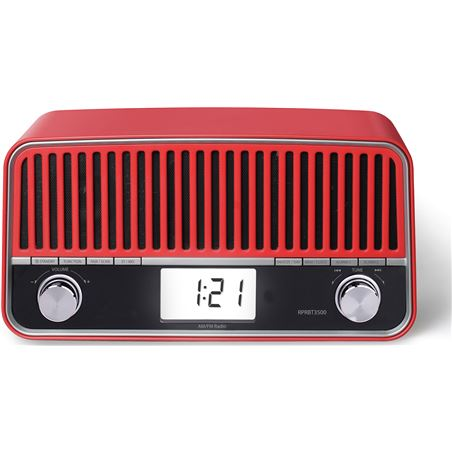 Sunstech radio retro bluetooh rojo RPRBT3500RD