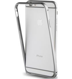 Funda bumper Muvit+nanofilm post. iphone 7 plata MUBUM0007 - MUBUM0007