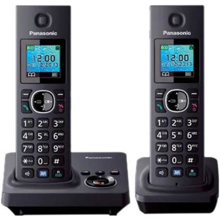 "Telefono inal Panasonic kx-tg7852spb duo 1.46"" col KXTG7852SPB"