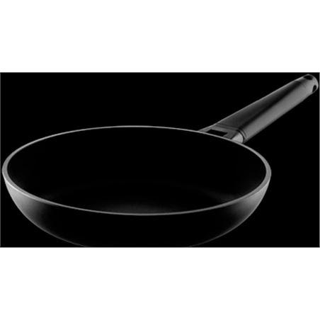 0002068 sarten castey inducción con mango negro 24 cm 4-i2 4i24