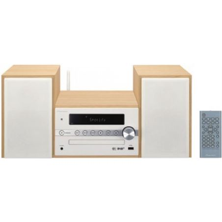 Pioneer microcadena XCM66DW bluetooth madera/blanca