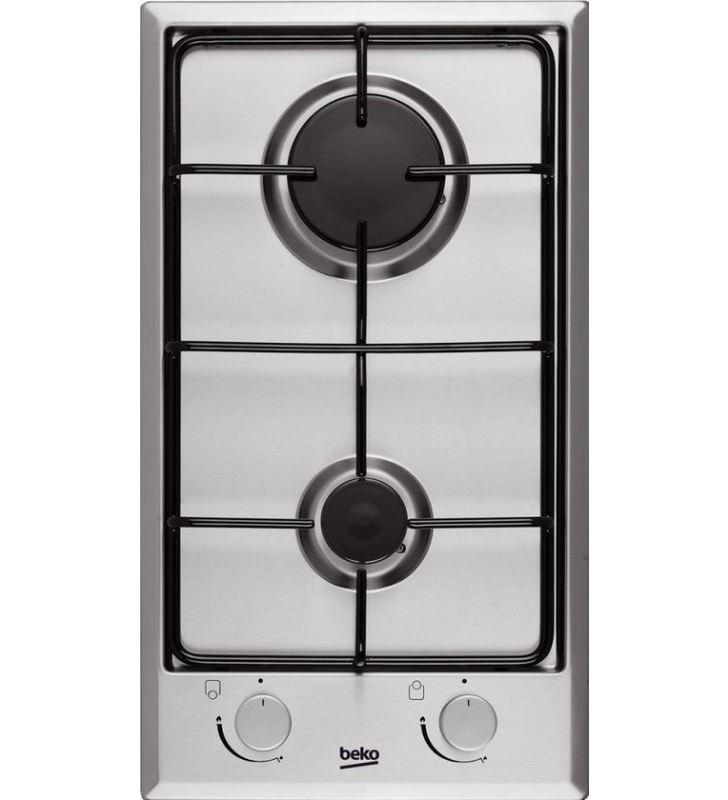 Beko HDCG32220FX placa convencional , 2 fuegos inox - HDCG32220FX