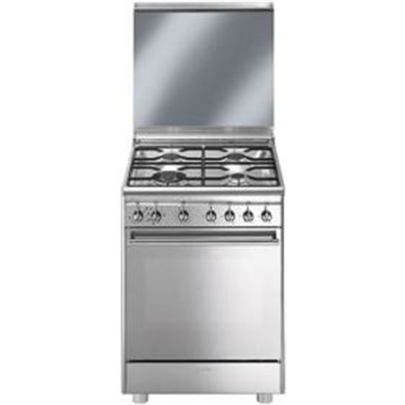 0001169 cuina smeg cx68m8-1 4f 60cm inox cx68m81