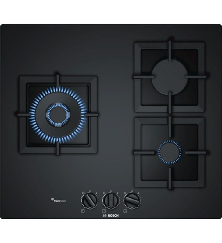 Placa gas Bosch PPC6A6B20 60cm 3quem cristal negro - PPC6A6B20