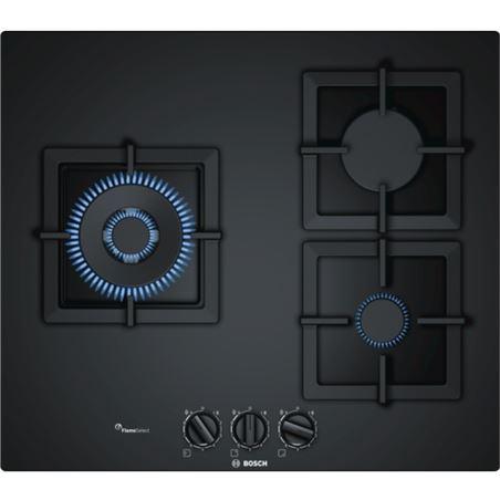 Placa gas Bosch PPC6A6B20 60cm 3quem cristal negro