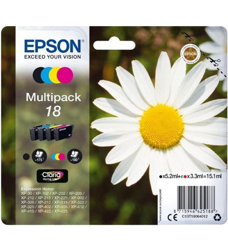 Epson C13T18064012 cartucho tinta multipack 4 colores 18 claria c13t18064010 - EPSC13T18064012