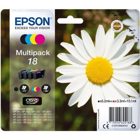 Cartucho tinta Epson multipack 4 colores 18 claria C13T18064010 - EPSC13T18064012