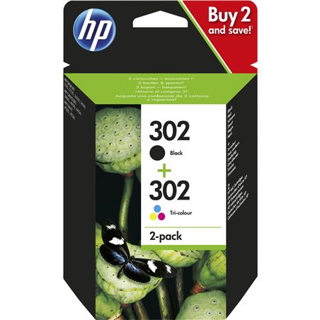 Cartucho tinta Hp combo 302 negro tricolor blister X4D37AE