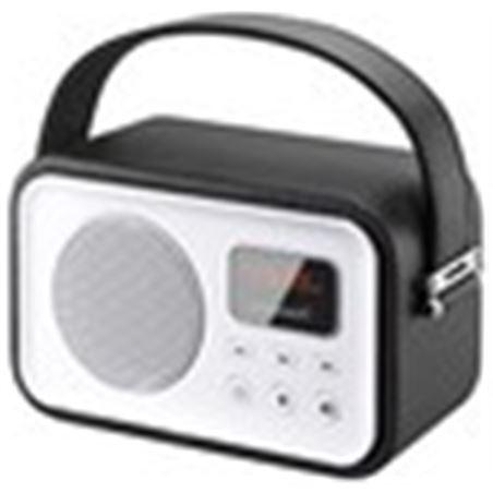 Radio portatil Sunstech rpbt450or retro negra RPBT450BK