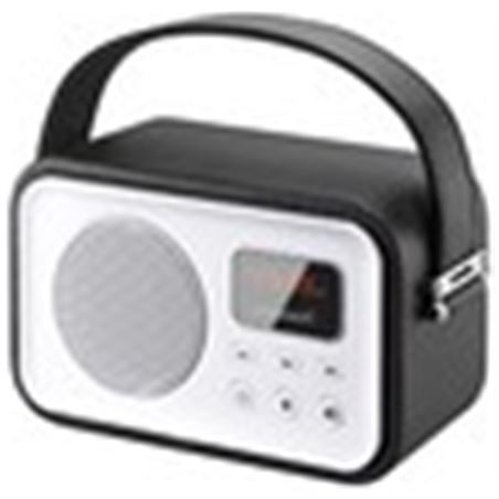 Radio portatil Sunstech rpbt450or retro negra RPBT450BK