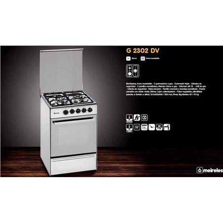 Cocina convertical  Meireles E531XNAT, 3 fuegos (1 trx
