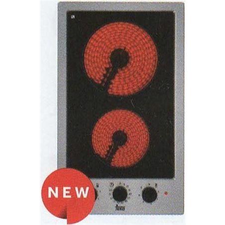 Placa modular vitroc Teka efx3012h 30cm 2 zon inox 40214405