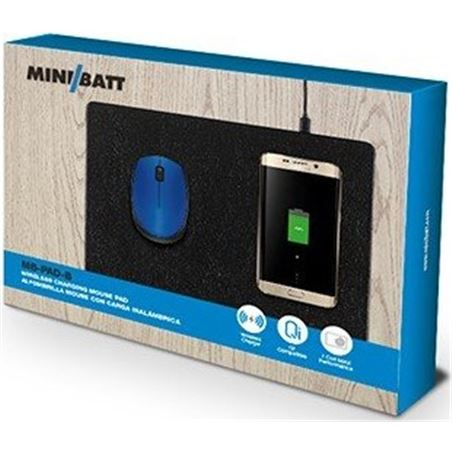 Alfombrilla raton Minibatt carga inalambrica MBPAD