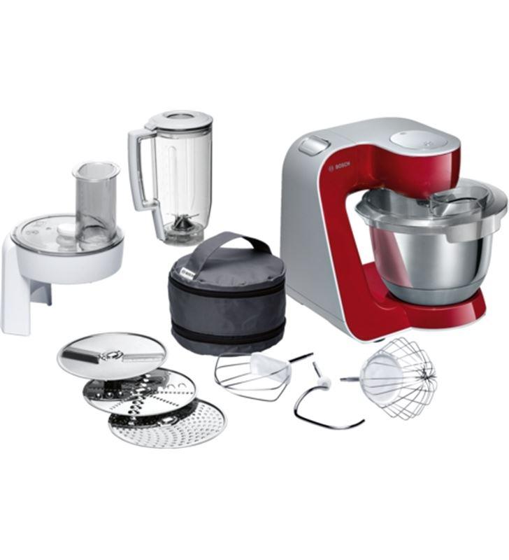 Robot cocina Bosch MUM58720 rojo/plata 1000w Robots de cocina - BOSMUM58720