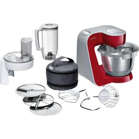 Robot cocina Bosch MUM58720 rojo/plata 1000w