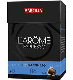 Capsula cafe descafeinado l' arome Marcilla 4018039 - 4015886