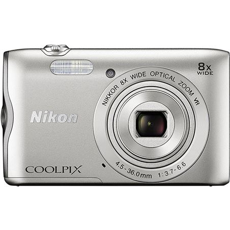 Cámara de fotos digital Nikon coolpix a300 20mp 8x plata NIKA300S