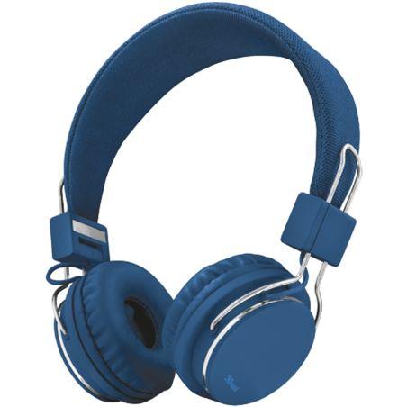Auriculares diadema Trust ziva manos libres azules TRU21823