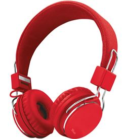 Auriculares diadema Trust ziva manos libres rojos TRU21822 - TRU21822